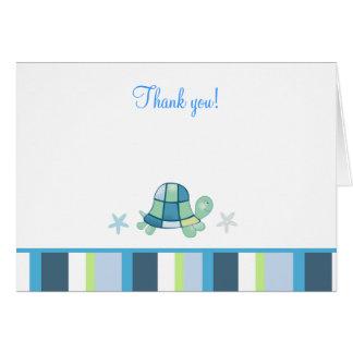 Turtle Bay Modern Stripe Note Card