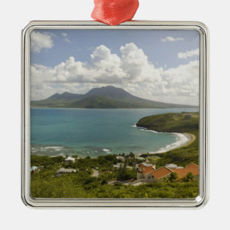Turtle Beach, southeast peninsula, St Kitts, Metal Ornament