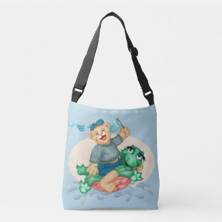 TURTLE BEAR All-Over-Print Cross Body Bag MEDIUM