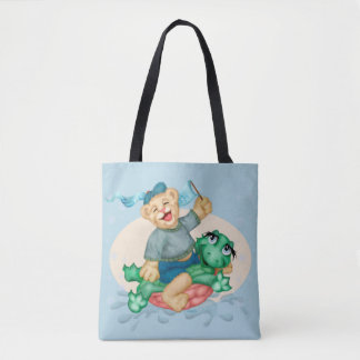 TURTLE BEAR All-Over-Print Tote Bag MEDIUM