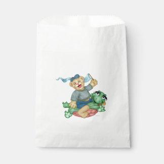 TURTLE BEAR CARTOON  bag WHITE Favor