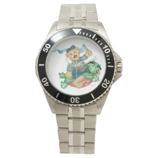 TURTLE BEAR CARTOON  Shows for children Stainless Watch