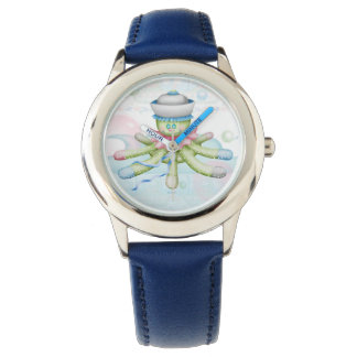 TURTLE BEAR CARTOON Stainless Steel Blue Watch