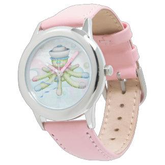 TURTLE BEAR CARTOON Stainless Steel Pink Wristwatch