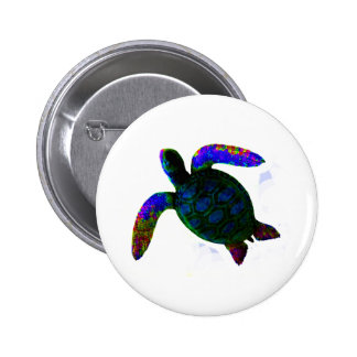 Turtle Blue jGibney The MUSEUM Zazzle Gifts 2 Inch Round Button