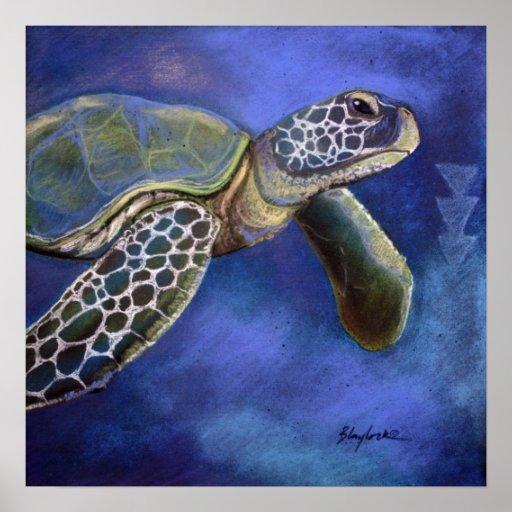 Turtle Blues Print