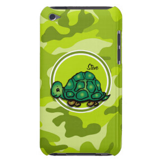Turtle bright green camo camouflage barely there iPod cases