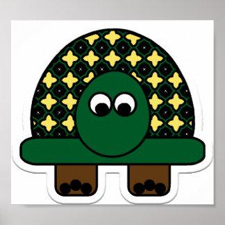 Turtle Cartoon Art Poster