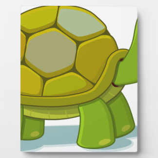 Turtle Cartoon Drawing Plaque