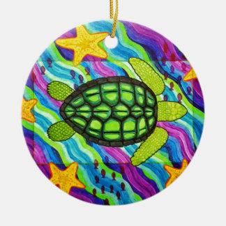 turtle ceramic ornament