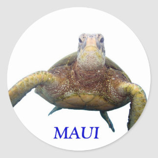 Turtle Chest, MAUI Classic Round Sticker