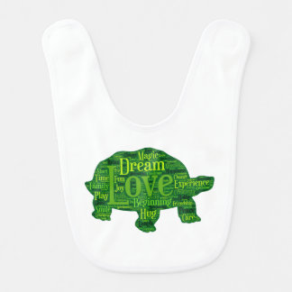 Turtle children design bib