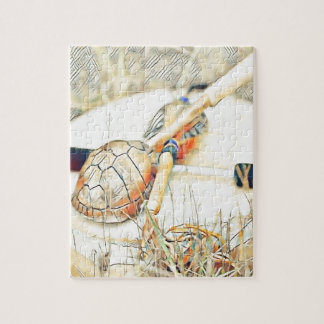 Turtle Clan Rattle and Drum Jigsaw Puzzle