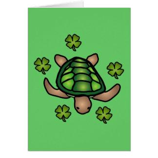 Turtle & Clover Card