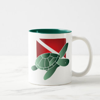 Turtle Dive Flag Mug