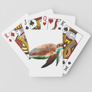 Turtle Double Exposure Playing Cards