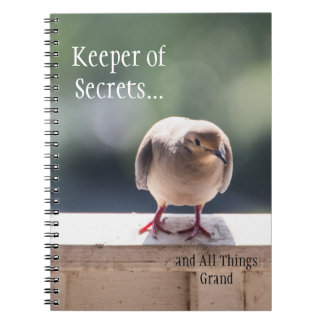 """Turtle Dove """"Keeper of Secrets"""" Journal Note Books"""