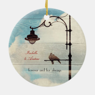 Turtle Doves - love and faithfulness Ceramic Ornament