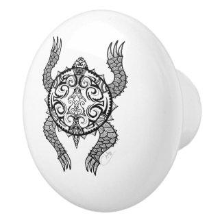 Turtle Drawing Ceramic Knob