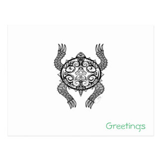 Turtle Drawing Postcard