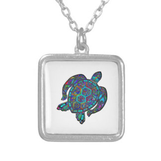 TURTLE DREAM AWAY SILVER PLATED NECKLACE