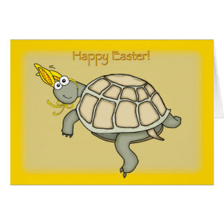 Turtle easter bunny! card
