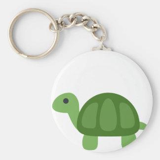 Turtle Emoji Basic Round Button Keychain