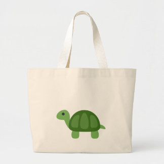 Turtle Emoji Large Tote Bag