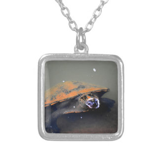 TURTLE EUNGELLA NATIONAL PARK AUSTRALIA SILVER PLATED NECKLACE