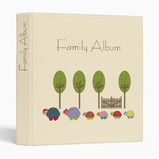 Turtle Family Vinyl Binder