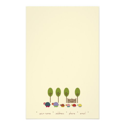 Turtle Family (TBA !) Stationery Design