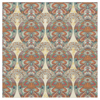 Turtle Floral Pattern Fabric
