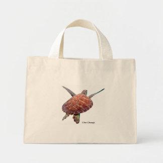 Turtle Floral Tote Bag