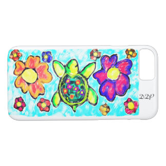 Turtle flower art two iPhone 8/7 case