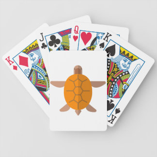 Turtle From Above Primitive Style Bicycle Playing Cards