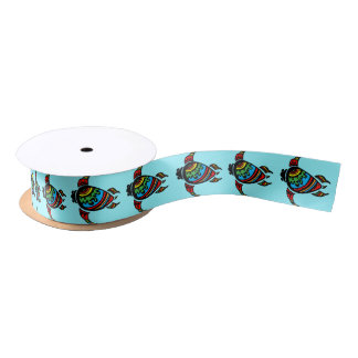 Turtle Gift Wrapping Paper and Accessories Satin Ribbon