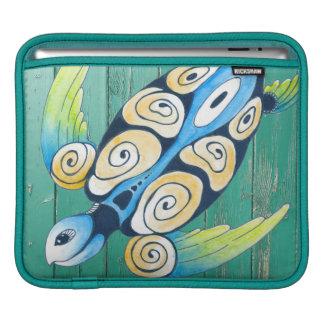 turtle green wood iPad sleeve