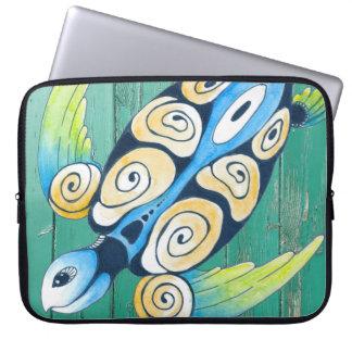 turtle green wood laptop sleeve