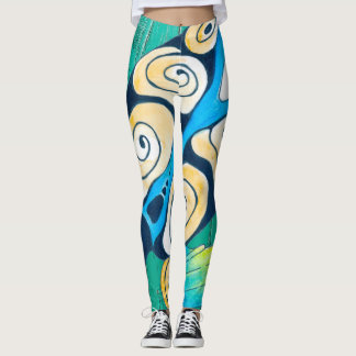turtle green wood leggings