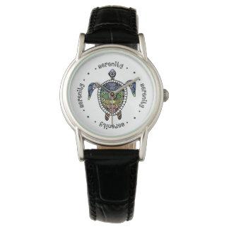 Turtle Harmony Classic Black Leather Watch