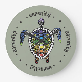 Turtle Harmony Round (Large) Wall Clock