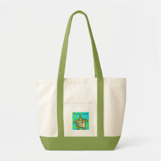 Turtle, Hawaiian Style! (Green/Tan) Impulse Tote Bag