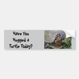 Turtle Hugger Bumper Sticker