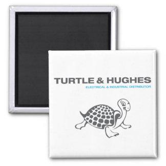 Turtle & Hughes Square Magnet