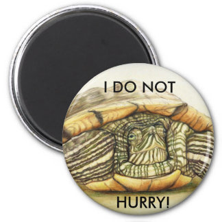 Turtle I Do Not Hurry Magnet