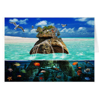 Turtle Island Fantasy Secluded Resort Card
