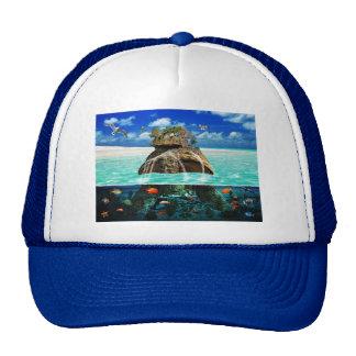 Turtle Island Fantasy Secluded Resort Mesh Hat