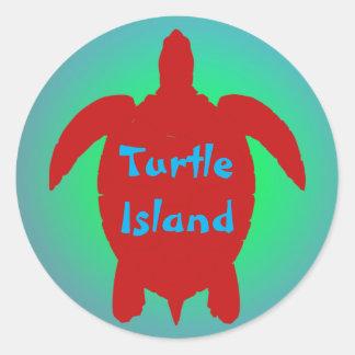 TURTLE ISLAND sticker