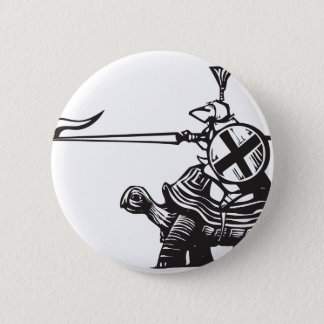 Turtle Knight 2 Inch Round Button