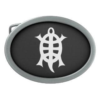 Turtle letter crumbling oval belt buckles